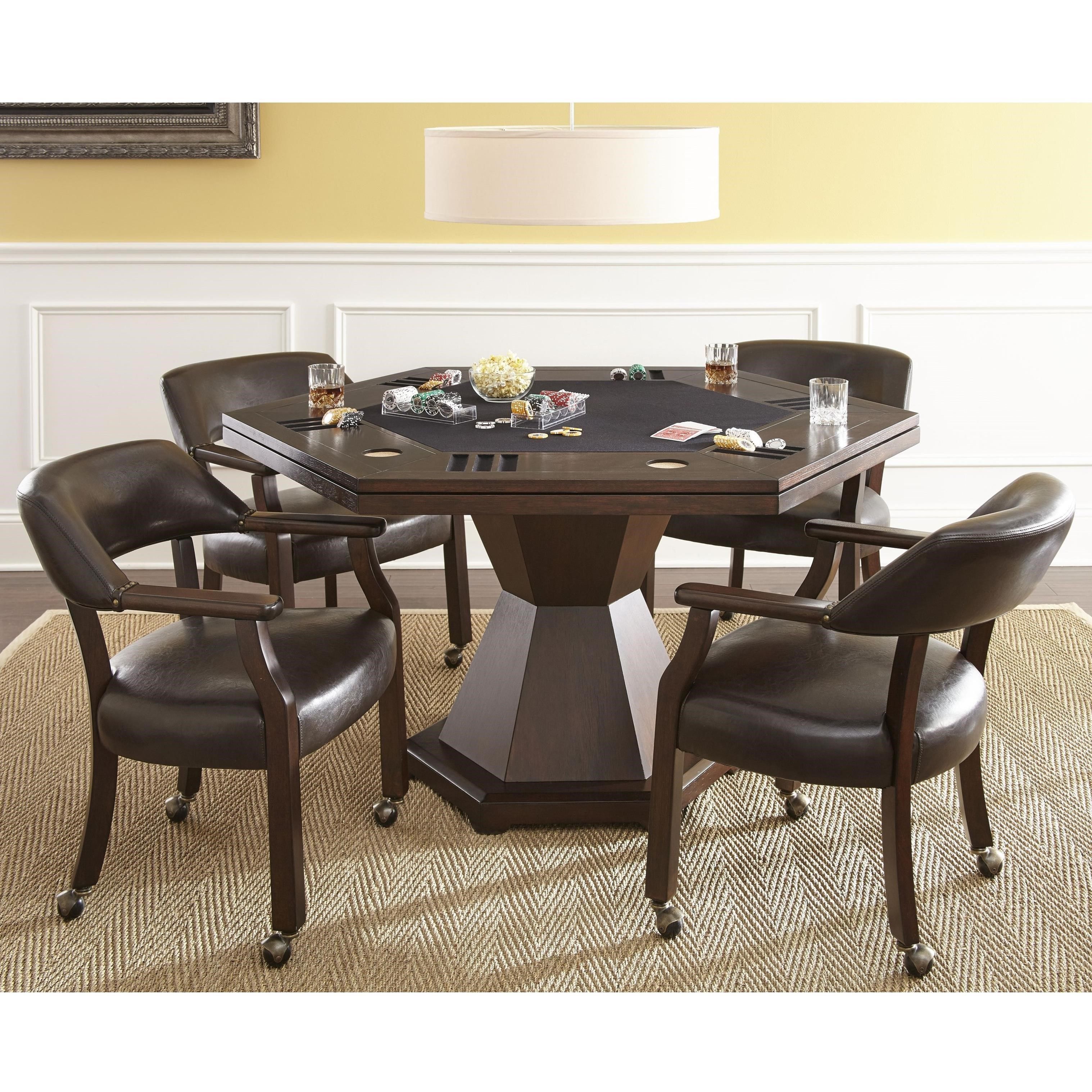 Steve Silver Morris Game Table Set With 2 In 1 Table