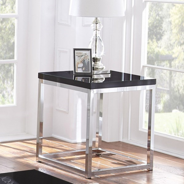 Madelyn Square End Table With Metal Frame By Steve Silver