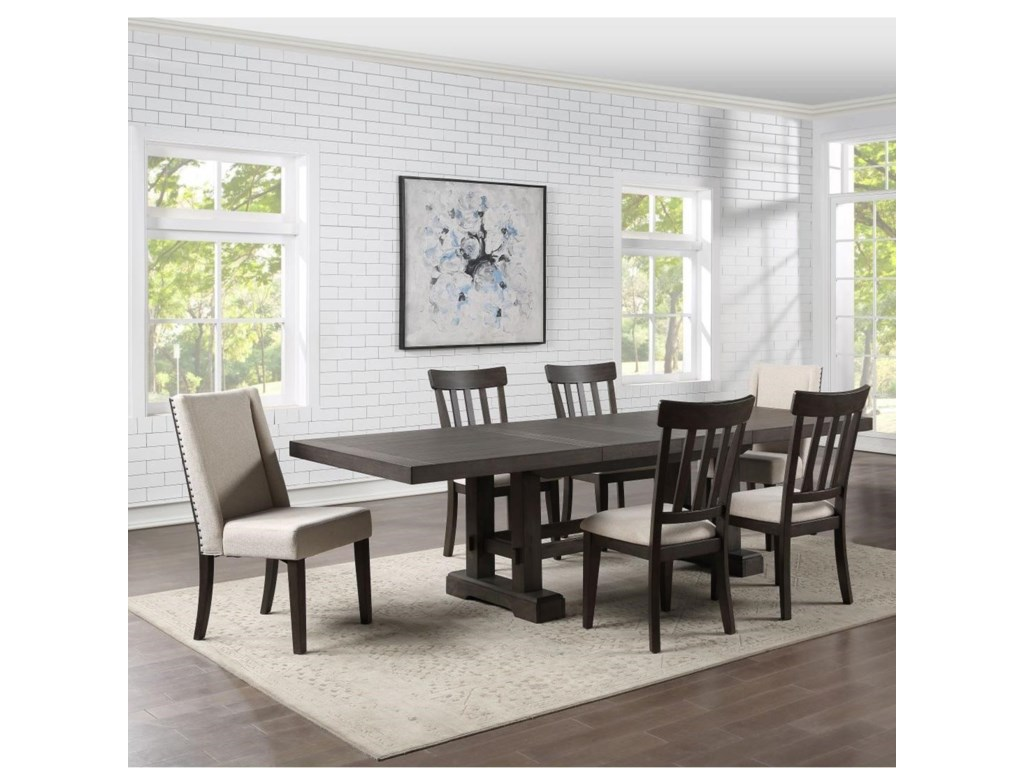 Steve Silver Napa7-Piece Table and Chair Set