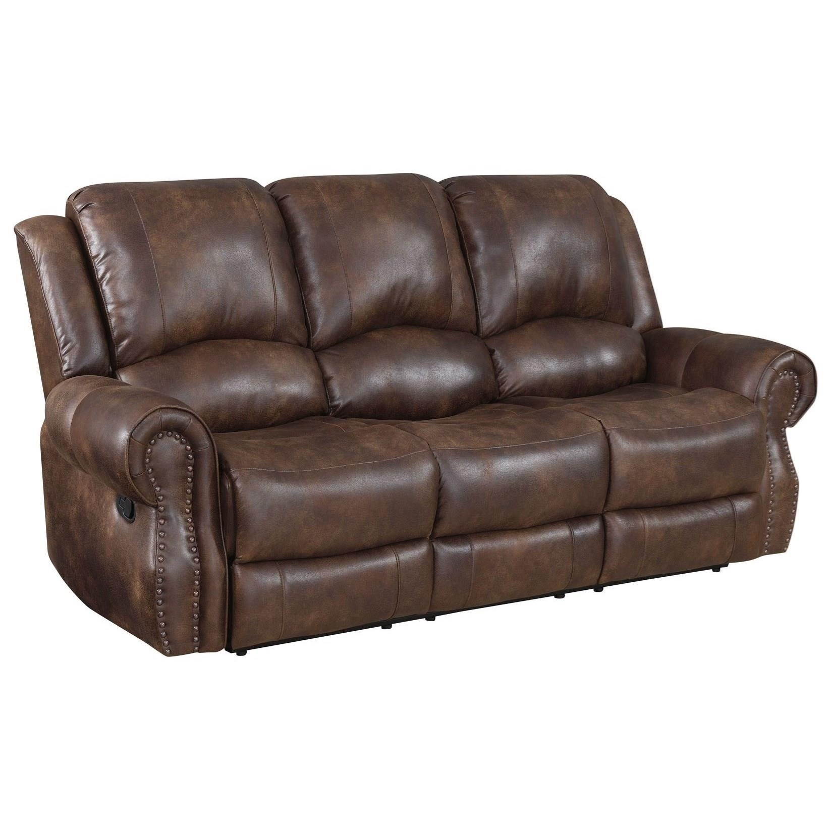Faux Leather Manual Recliner Sofa