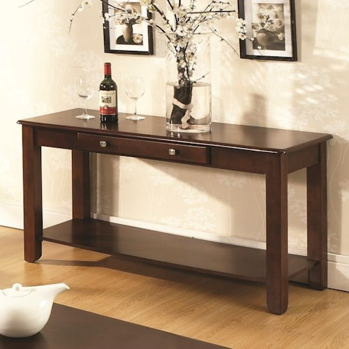 Steve Silver Nelson Sofa Table with 1 Drawer