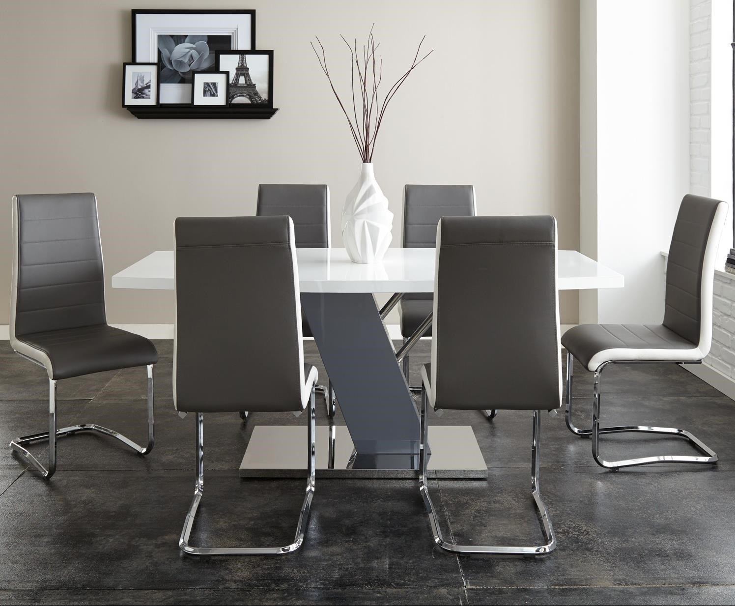 Steve Silver Nevada 7 Piece Dining Set With Ergonomic Breuer Chairs
