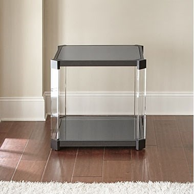 Steve Silver Newton End Table with Black Tempered Glass Top