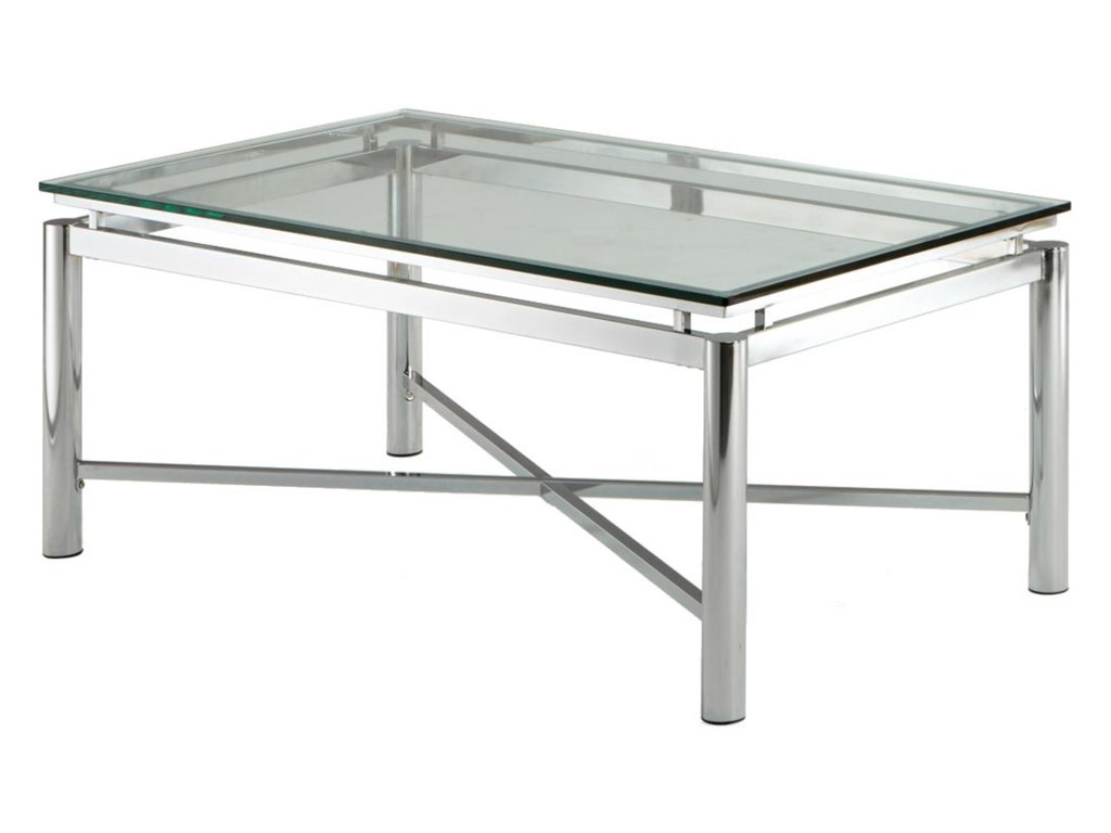 Steve Silver NovaGlass Top Cocktail Table
