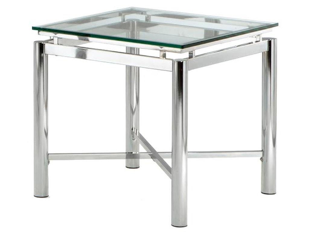 Steve Silver NovaGlass Top End Table