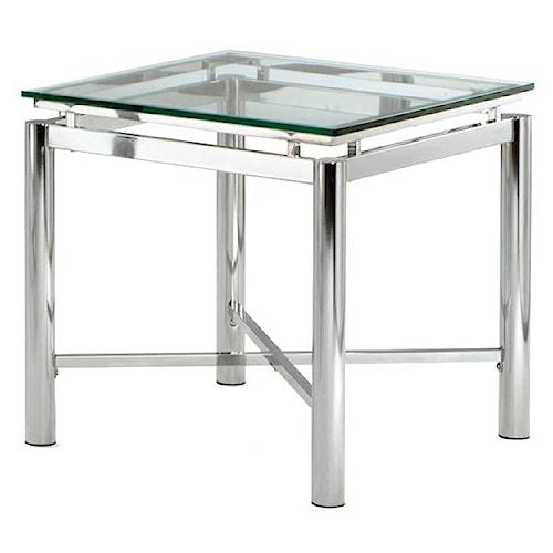 Steve Silver Nova Glass Top End Table