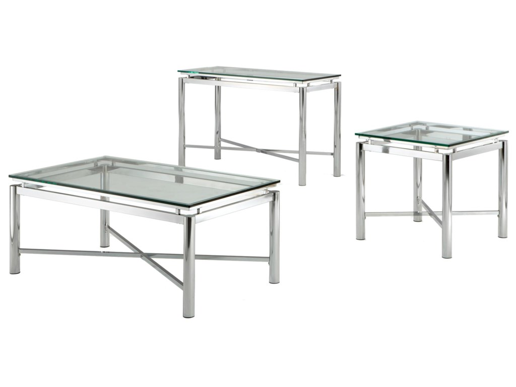 Steve Silver NovaGlass Top Sofa Table