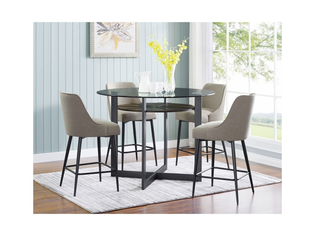 Steve Silver Olson SS5 Piece Counter Dining Set