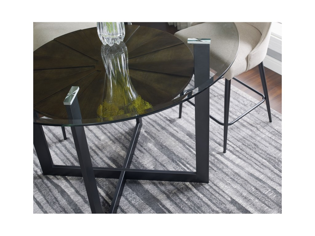 Steve Silver Olson SSRound Glass Counter Table