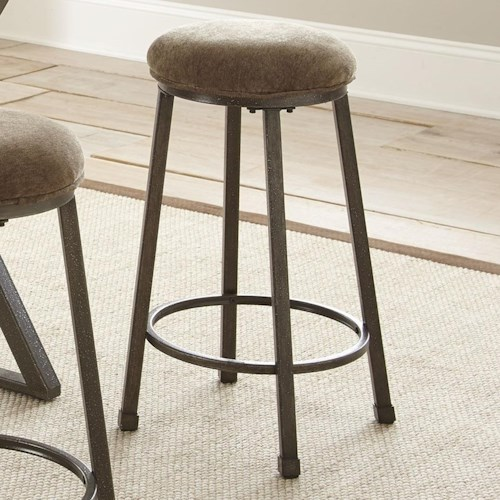 Steve Silver Omaha Counter Height Bar Stool with Upholstered Seat