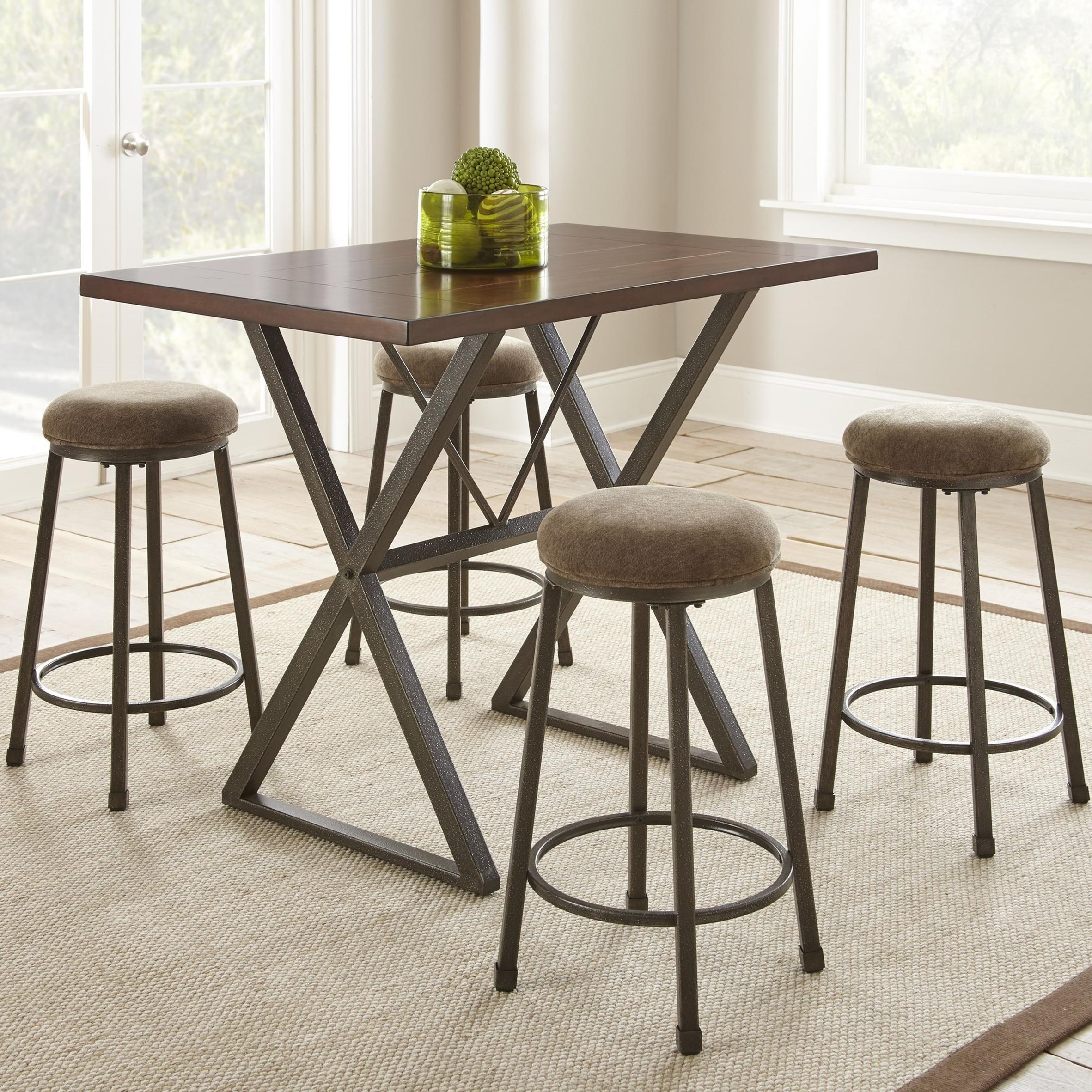 Perfect Steve Silver Omaha5 Piece Counter Height Dining Set