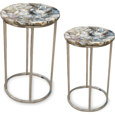 Agate Top Nesting Table