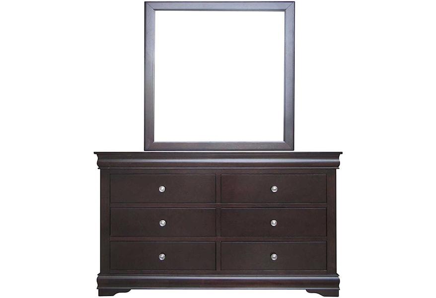 Vendor 3985 Orleans Louis Philippe Style Six Drawer Dresser