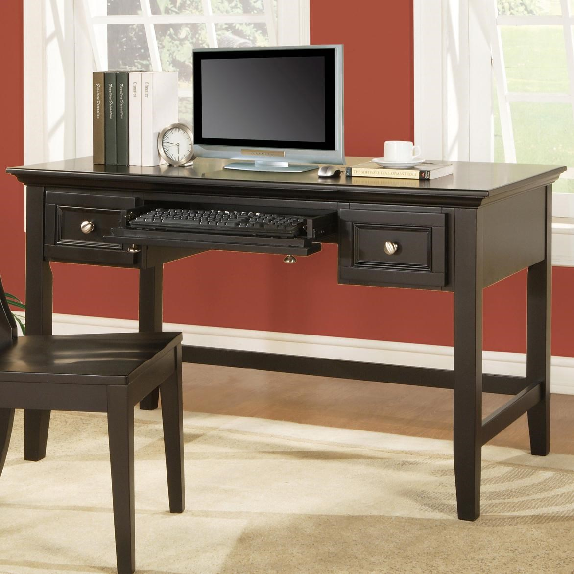 Charmant Star Napier2 Transitional 2 Drawer Writing Desk With Keyboard Tray