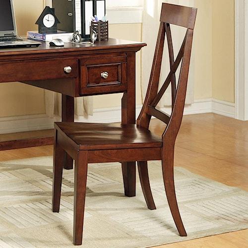 Steve Silver Oslo Transitional X-Back Desk Side Chair