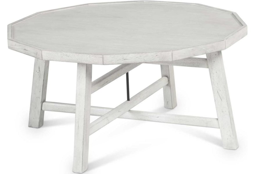 Steve Silver Paisley Is100c Farmhouse Round Cocktail Table With Tray Top Dunk Bright Furniture Cocktail Coffee Tables