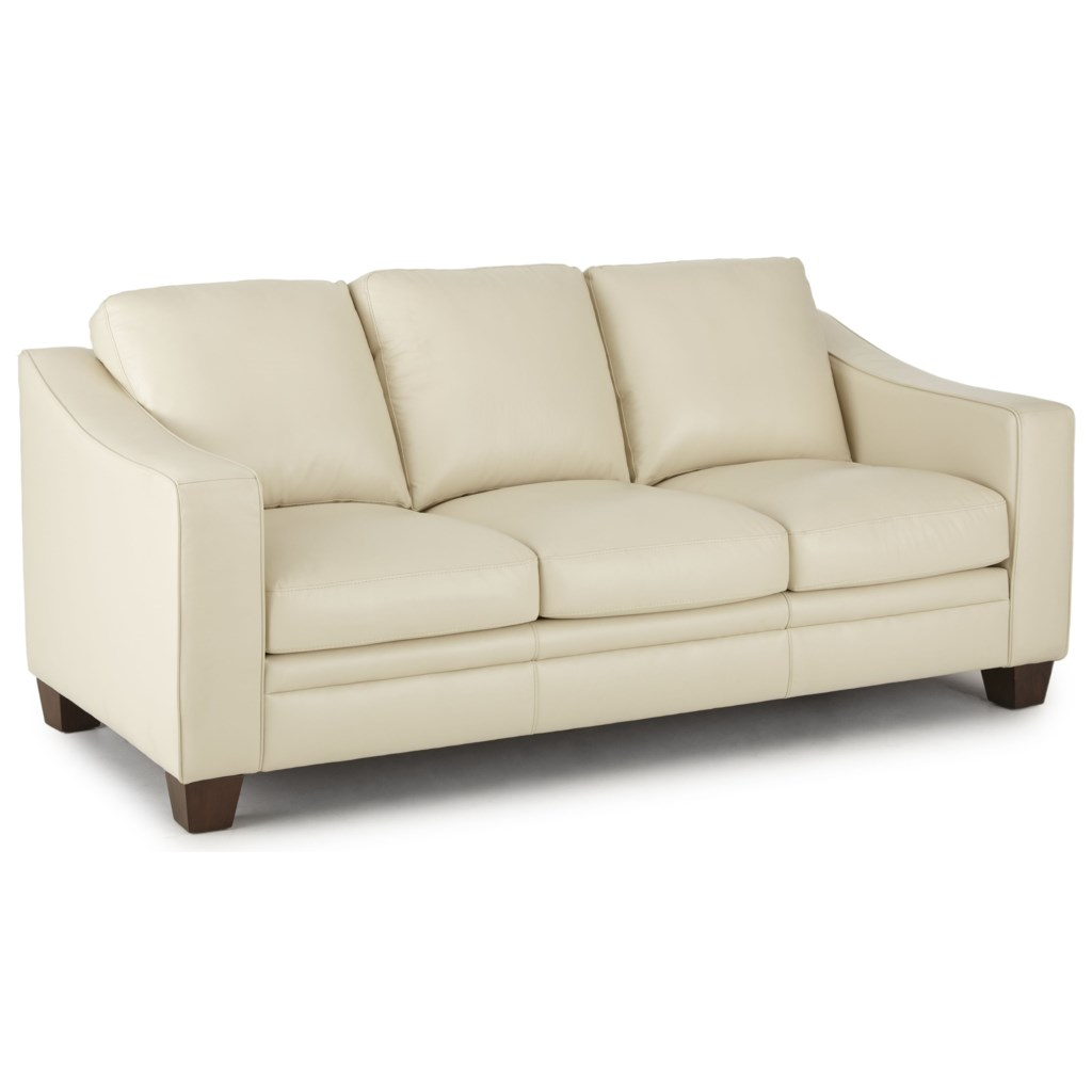 Steve Silver Pavarotti Transitional Leather Sofa Colder S