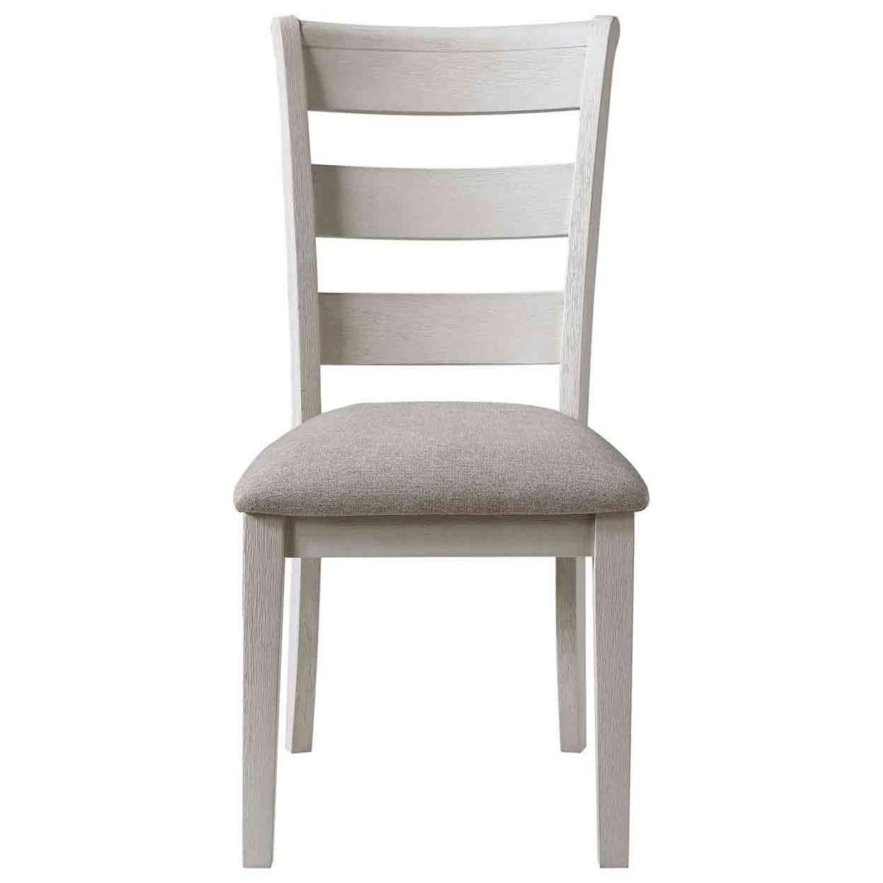Modern Farmhouse Upholstered Ladderback Side Chair