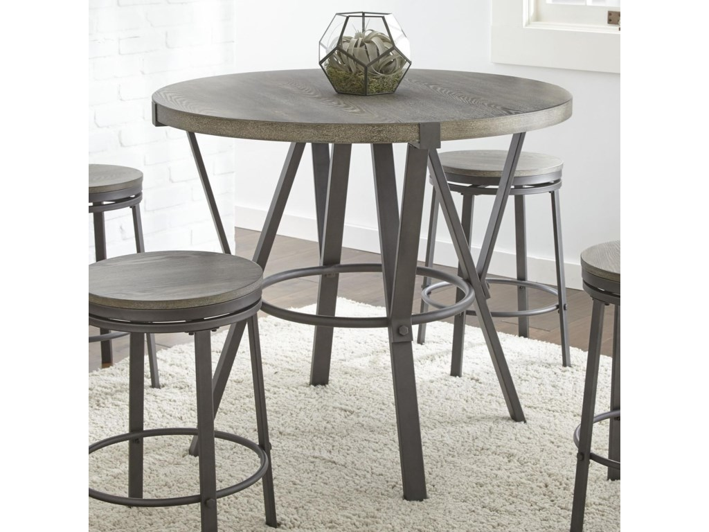 Portland Round Counter Table With Metal Base