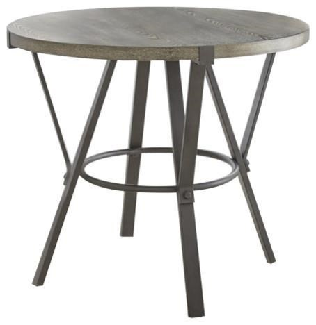 Round Counter Table with Metal Base
