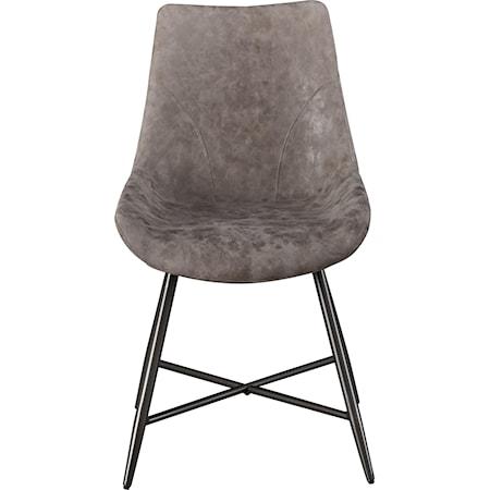 Faux Rawhide Side Chair