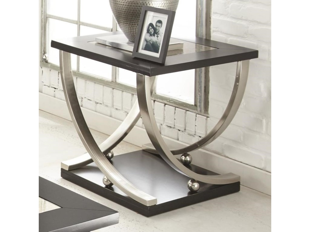 Ramsey Square End Table With Antique Mirror Top Morris Home End