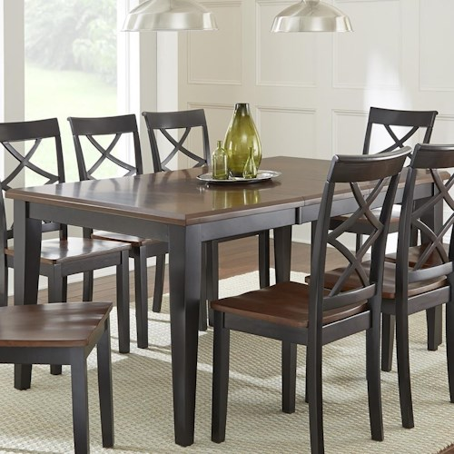 Steve Silver Rani  Two Tone Brown/Black Dining Table