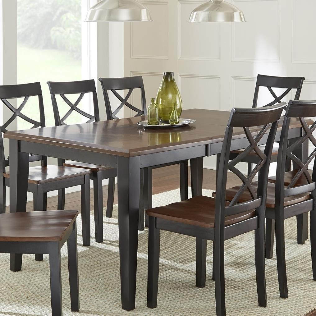 Rani Two Tone Brown Black Dining Table Morris Home Dining Room Table