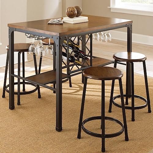 Steve Silver Rebecca 5 Piece Wine Storage Counter Table Set