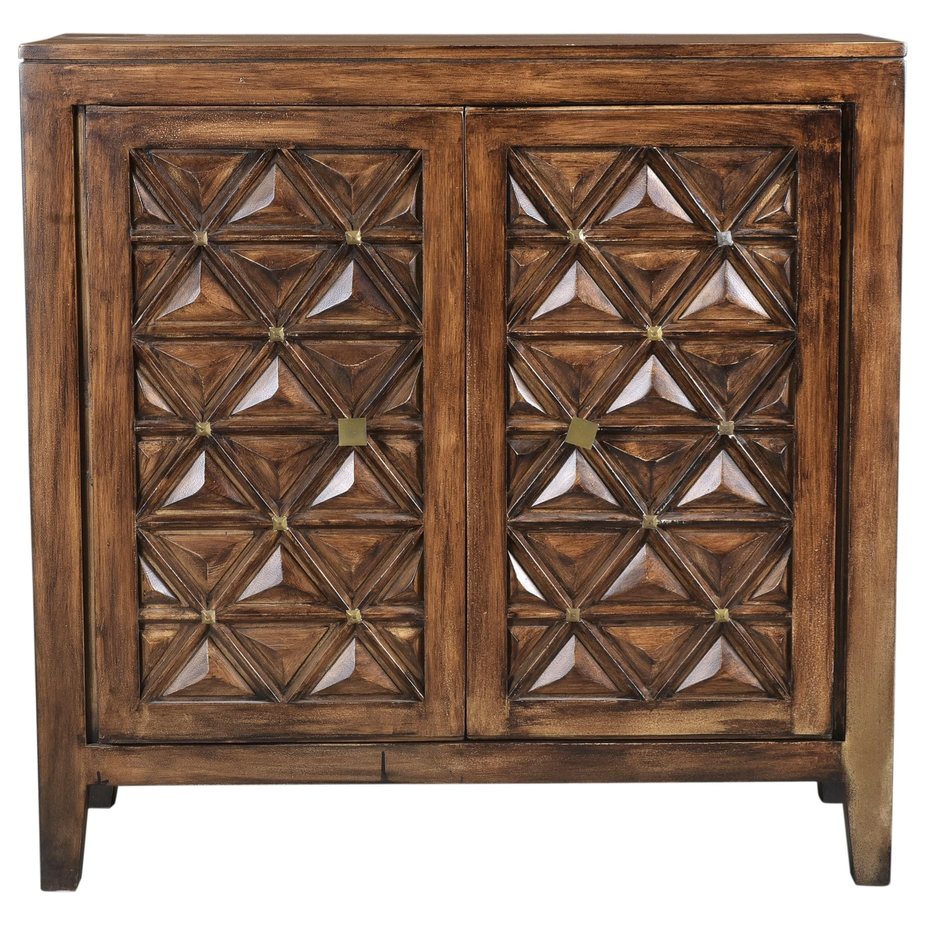Mid-Century Modern Accent Cabinet with Magnetic Door Latches