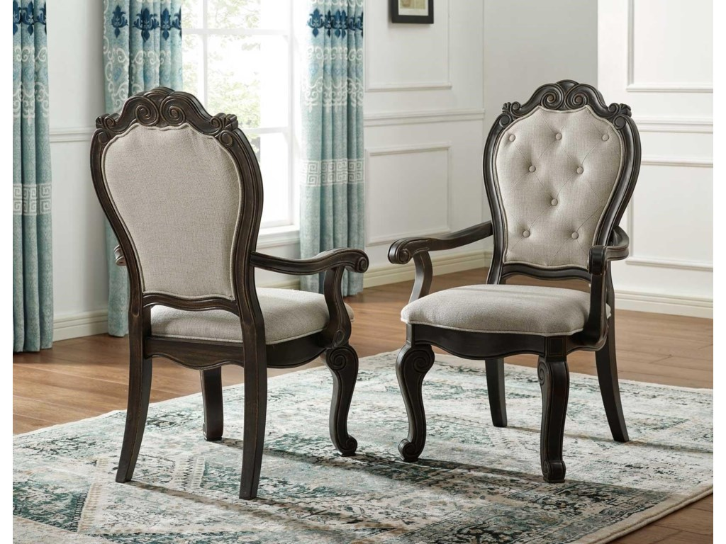 Steve Silver RhapsodyDining Table with 2 Arm and 4 Side Chairs