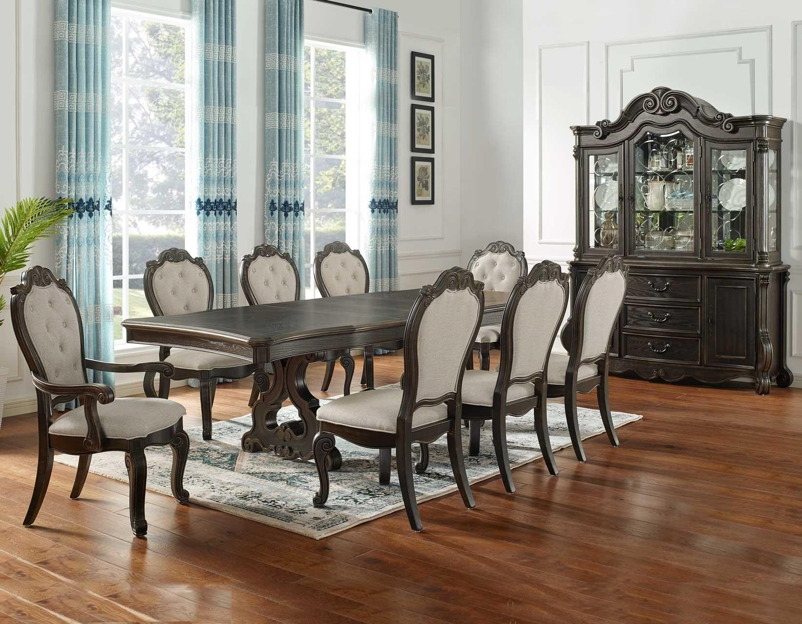 Picture of: Steve Silver Rhapsody Formal Dining Table Seats Up To 10 Royal Furniture Dining Tables