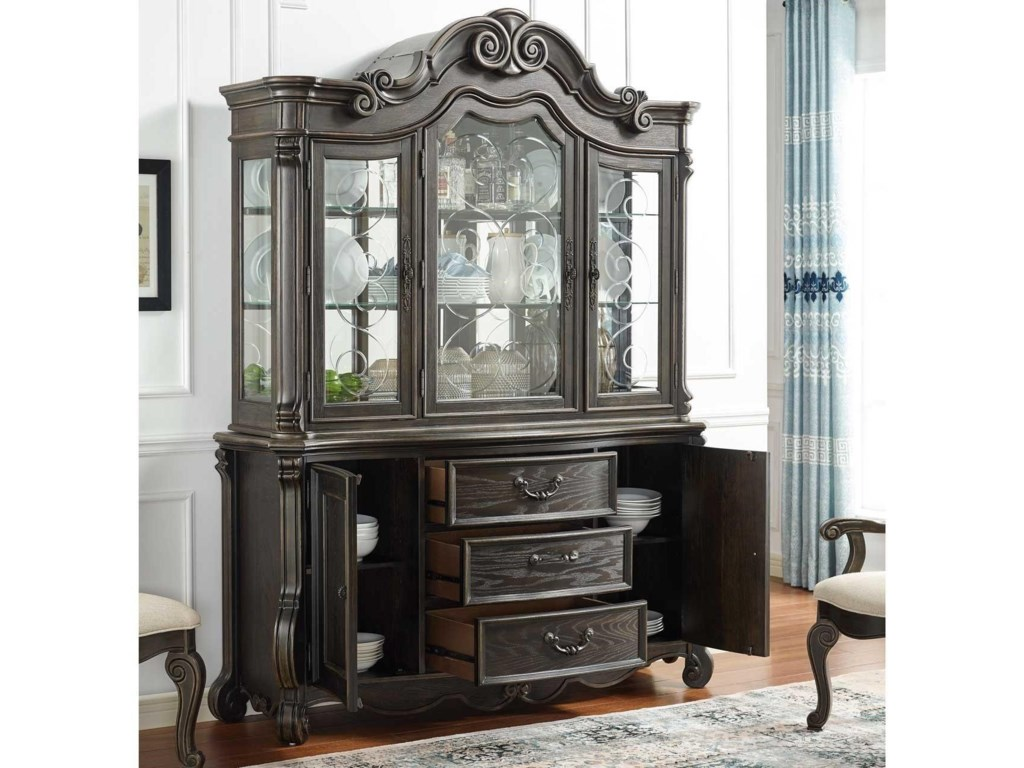 Steve Silver RhapsodyChina Cabinet with Lighting
