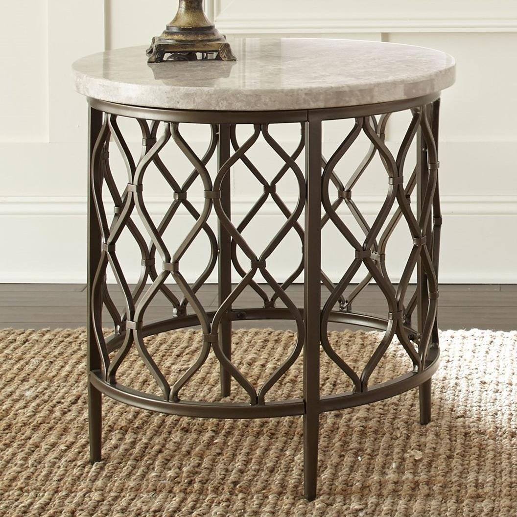 Charmant Roland Stone Top End Table By Vendor 3985