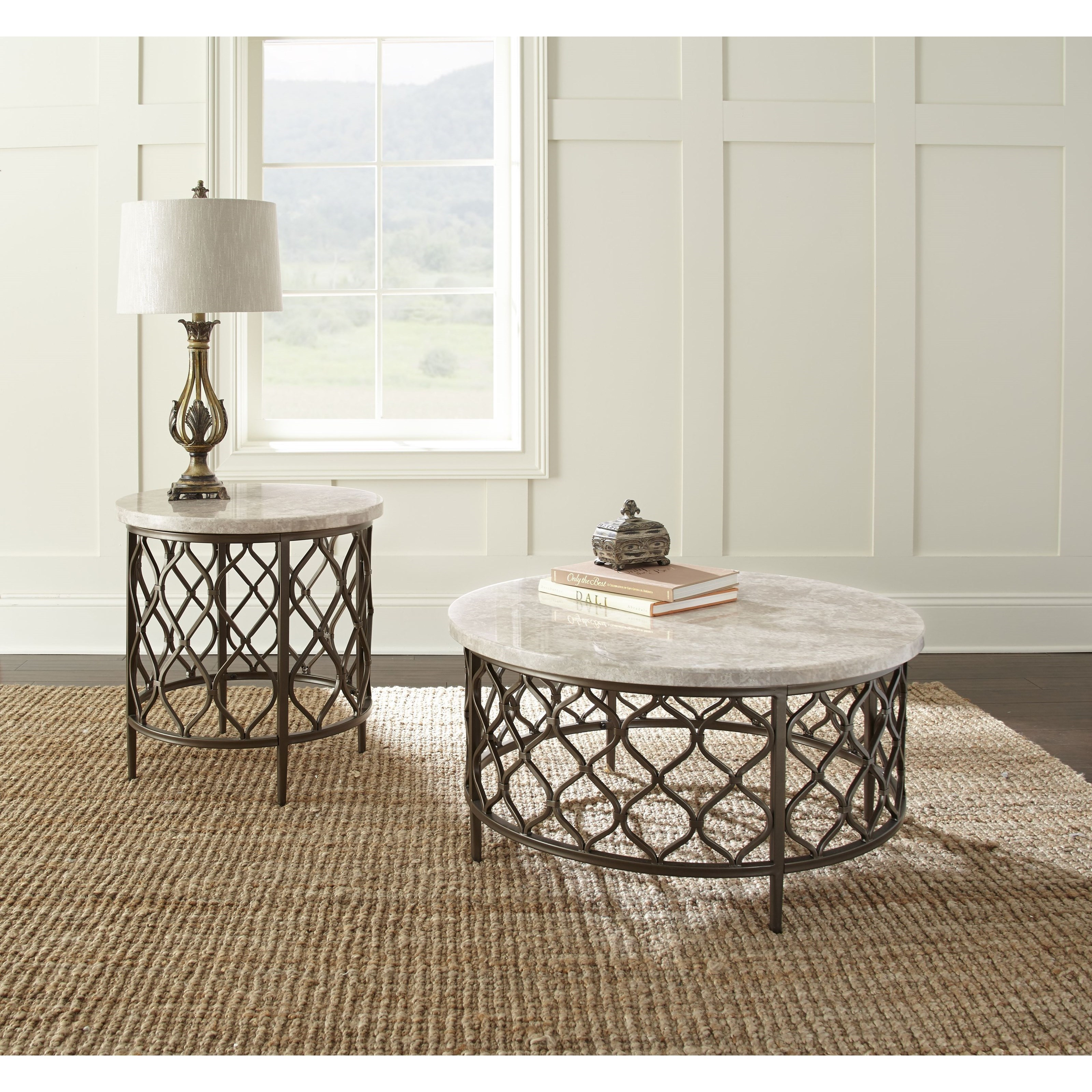 Roland Stone Top End Table