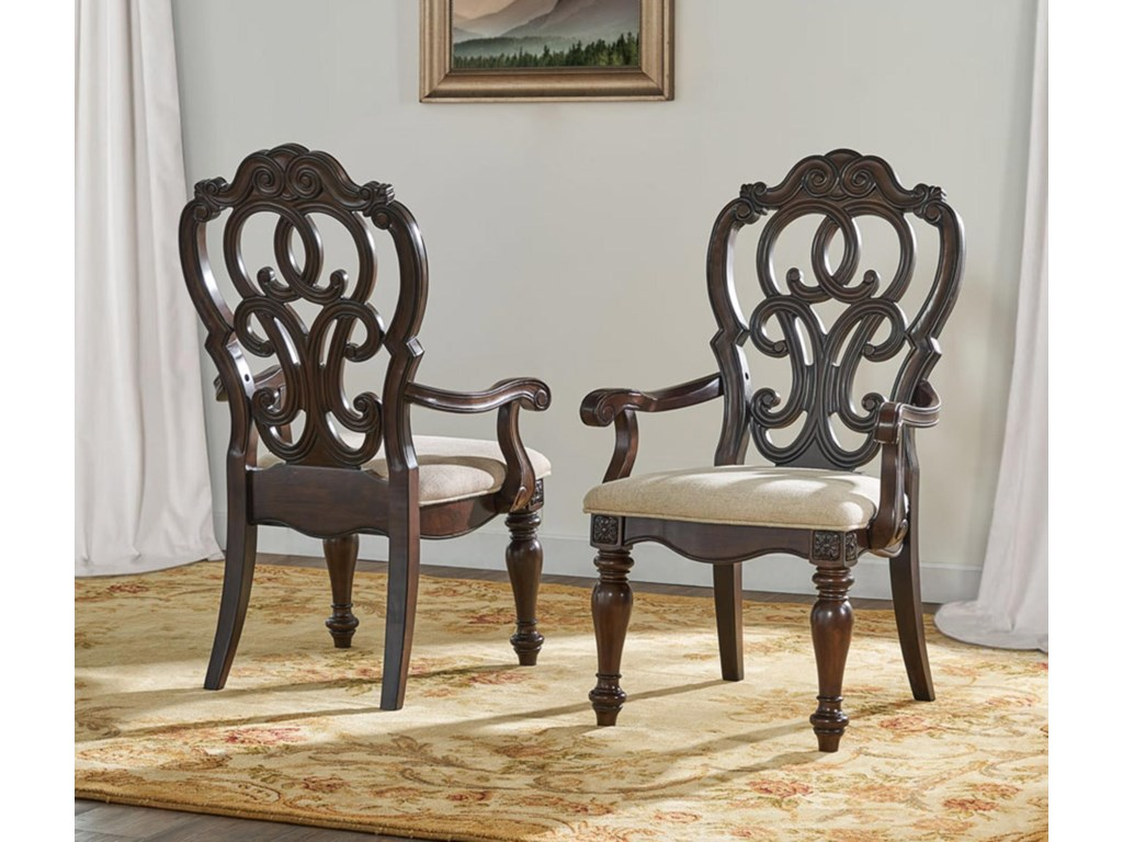 Steve Silver RoyalePedestal Table with 6 Chairs