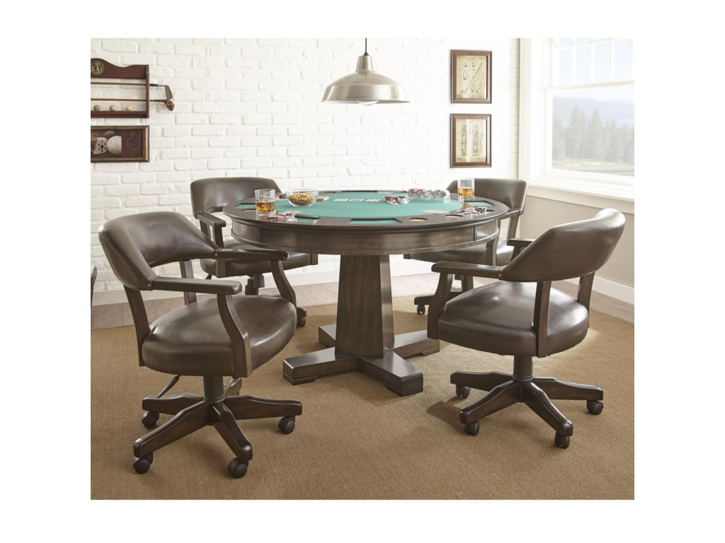 Steve Silver RubyGame Table Set