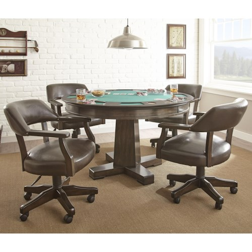 Steve Silver Ruby Game Table Set with 2-in-1 Table