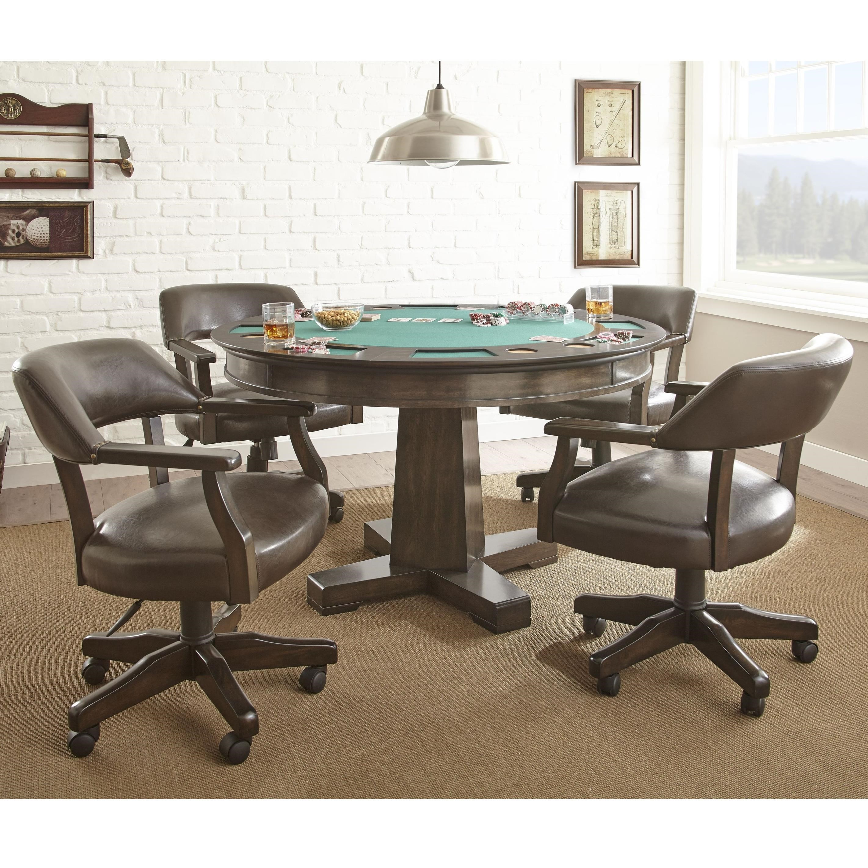 Steve Silver Ruby Game Table Set With 2 In 1 Table