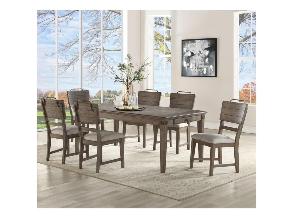 Steve Silver Ryan7 Piece Dining and Chair Set