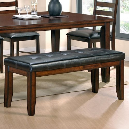 Steve Silver Sao Paulo Casual Upholstered 2-Seat Dining Bench