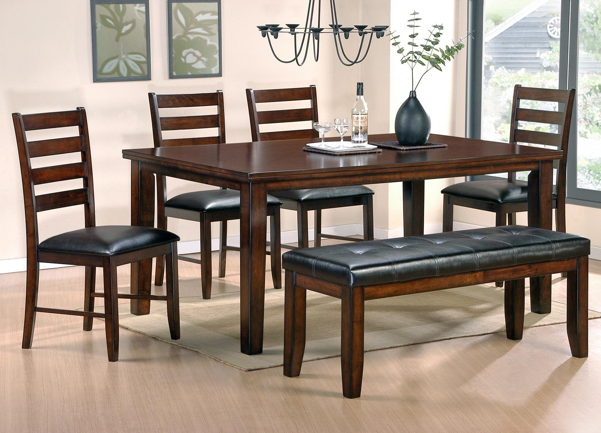 steve silver sao paulo 6piece casual dining table bench u0026 chair set