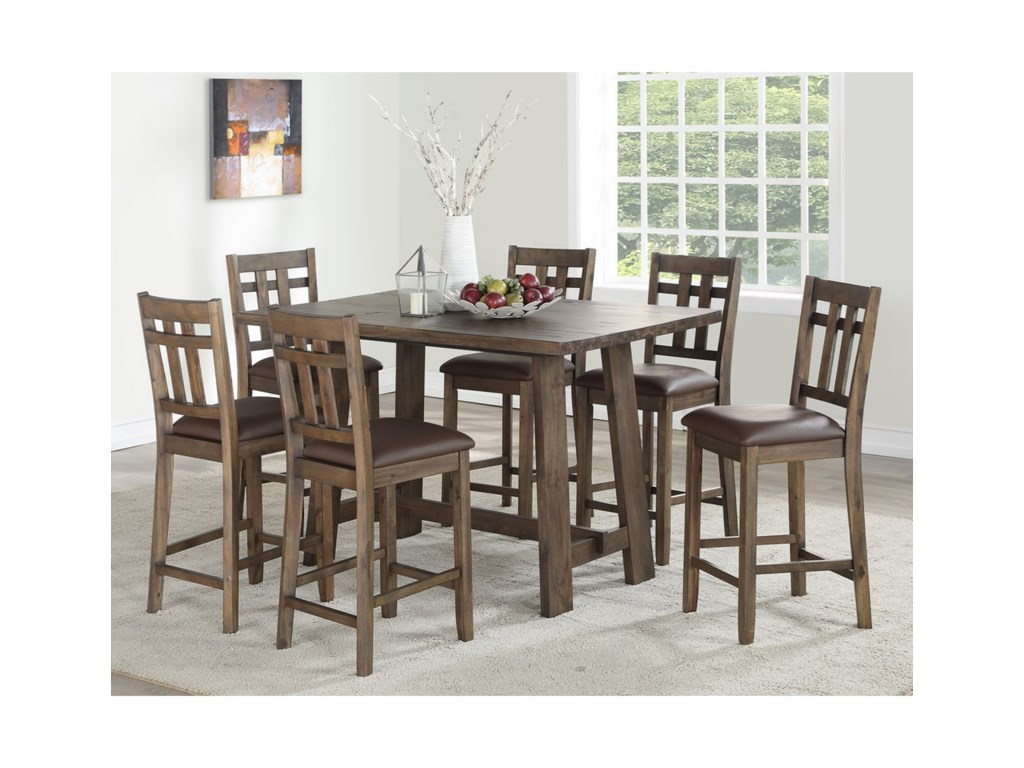 Saranac Rustic 7 Piece Dining Set By Steve Silver At Wayside Furniture