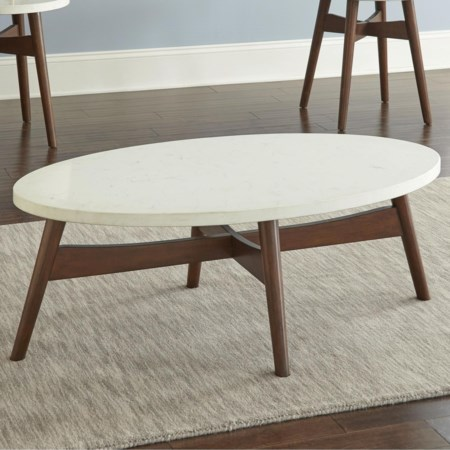 Silverstone® Oval Cocktail Table