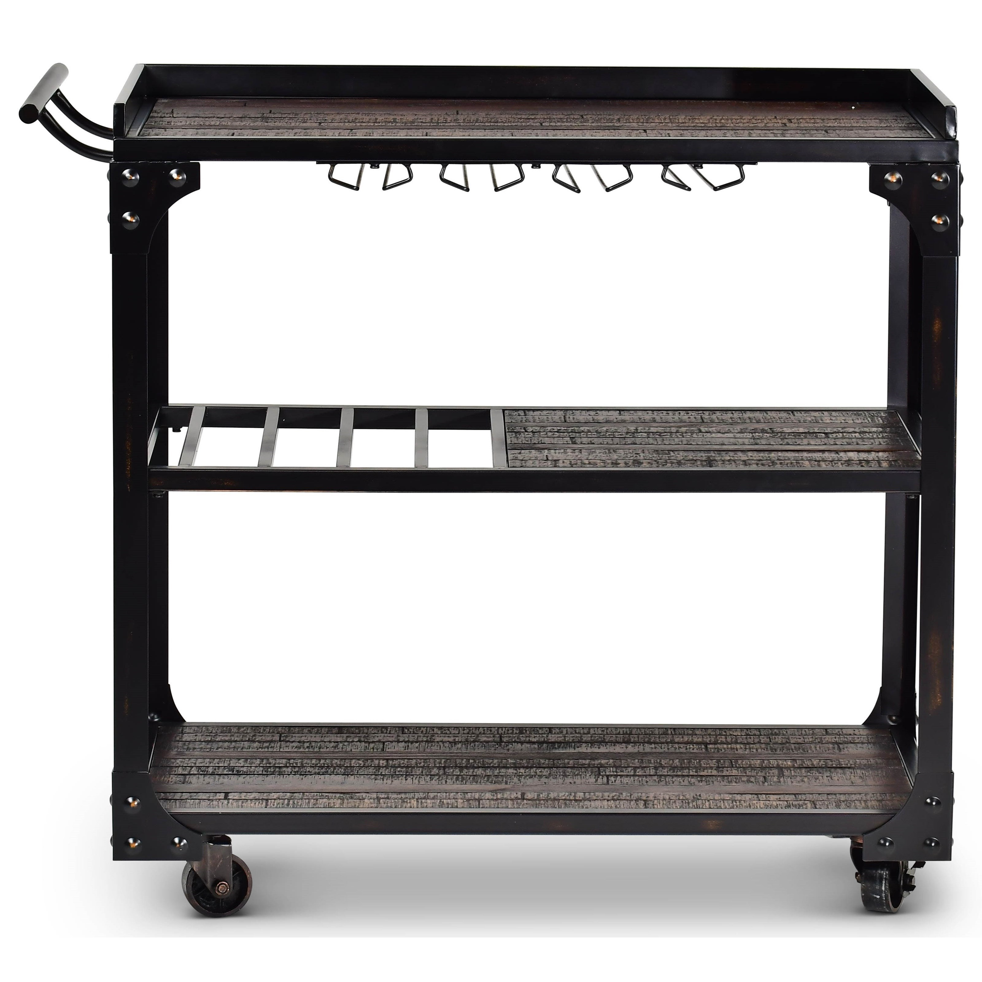 Rustic Industrial Style Cart w/ Casters