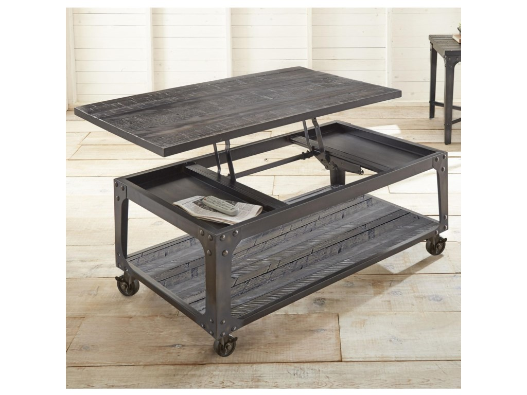 Steve Silver SherlockLift Top Cocktail Table with Casters
