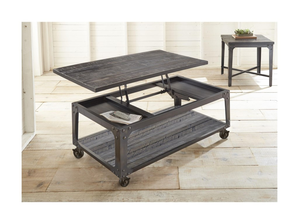 Morris Home SherlockLift Top Cocktail Table with Casters