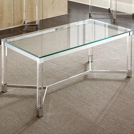 Rectangular Glass Cocktail Table