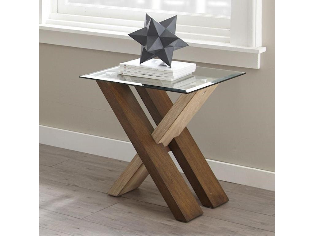 Vendor 3985 Tasha Ta100e End Table With Glass Top Becker Furniture