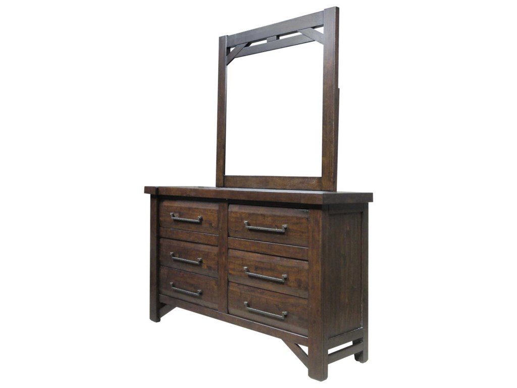 Morris Home TimberDresser + Mirror Set